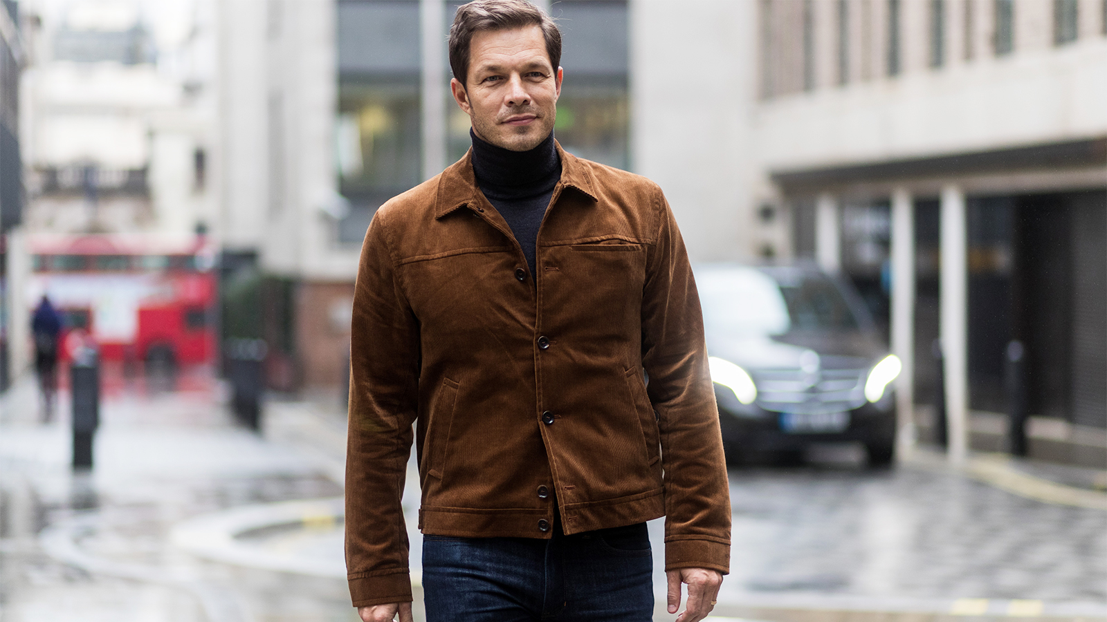 How cords have made a comeback - Paul Sculfer wearing brown cord jacket