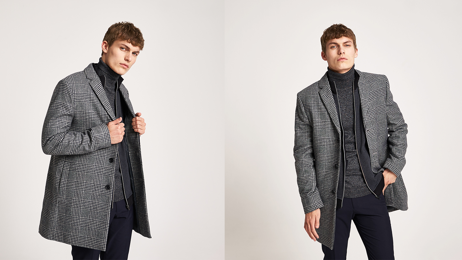 How to layer - zip neck and rollneck